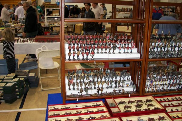 display at east coast toy soldier show at the rothman center